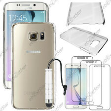 Coque Housse Etui Transparent Samsung Galaxy S6 edge G925F+Mini Stylet+3 Films