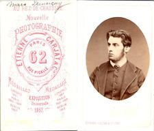 Carjat, Paris, Un bel homme nommé Marc Demarcay Vintage CDV albumen carte de vis