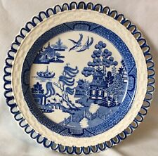 Blue Willow Reticulated Plate
