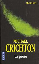 Livre Poche la proie Michael Crichton roman 2004 Laffont book