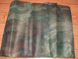 NEW MILITARY ISUE WOODLAND CAMOUFLAGE MESH NETTING 5ft X 8ft  DUCK BLINDS