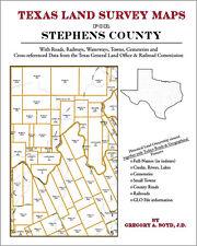 Stephens County Texas Land Survey Maps Genealogy History
