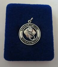 Sterling Silver 21x19mm round says Stingray City Cayman Islands Charm