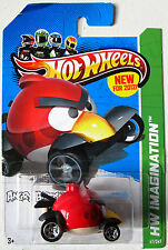 HOT WHEELS 2012 IMAGINATION RED BIRD ANGRY BIRDS  #47/247 Creased card