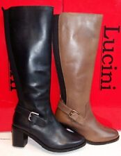 Lucini Ladies knee high leather boots 11002