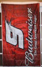 BUDWEISER #9 FLAG / NASCAR BANNER - 5'x3' DOUBLE SIDED - KASEY KAHNE