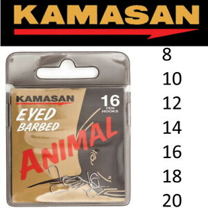 Kamasan ANIMAL EYED BARBED Hooks Coarse Match Fishing