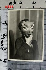 1960s VINTAGE PHOTO SNAPSHOT ABSTRACT SCARY MASK