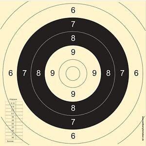 250 Schießscheiben BDS Spiegel Sportpistole Präzision  PORTOFREI