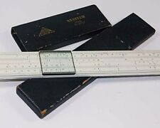 ORIGINAL GERMAN LOGARITHMIC SLIDE RULE – NESTLER Rietz Nr 23/52 RARE very old