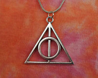 Deathly Hallows Necklace, Harry Potter Gift Jewelry Book Movie Charm Pendant