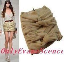 Korean Women's Fashion Mesh Skirt Beige Size M