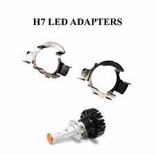 2x H7 LED Headlight Bulb Adapters Holders Audi BMW Mercedes-Benz Skoda VW Nissan