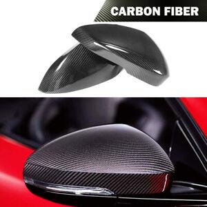 Fit for Jaguar F-type 2013-2016 Side Rearview Mirror Cover Cap 2PCS Carbon Fiber