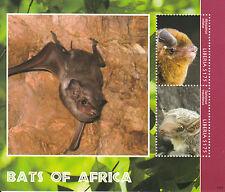Liberia 2014 MNH Bats of Africa 2v S/S Wildlife Wild Animals Miniopterus