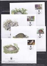 Laos 2004 - FDC - Dieren/Animals/Tiere (Schildpadden / Turtles) -> WWF