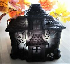 Led Lighted Flameless Candle Black Spooky Haunted House Ghosts Halloween Decor