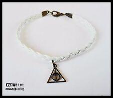 Pulsera Blanca Las Reliquias de la Muerte Bronce Complemento Harry Potter