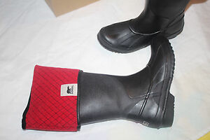 SOREL SORELLINGTON PLUS BOOT BLACK/RED #7us $139