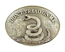 Nocona Western Belt Buckle Oval Snake Don't Tread On Me 37109
