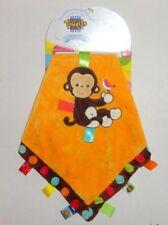 New Taggies Spotty Monkey Baby Security Blanket Orange Brown #39316 P52