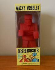 2001 Red Rock' Em Sock' Em Robots Funko Wacky Wobbler Nodder Bobble Head