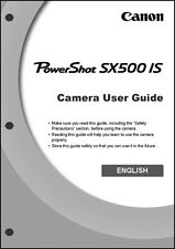 Canon Powershot SX500 IS Digital Camera User Instruction Guide  Manual