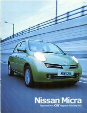 Nissan Micra 1.2 SE 5-dr 2003 UK Market Road Test Brochure Car 206 C3