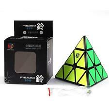 QiYi XMD X-Man Bell Black Magnetic Pyraminx Speed Cube Puzzle Toy USA Stock