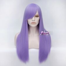 """Women's Long Straight 28"""" Light Purple Fashion Party + Wig Cap Cosplay Wig"""