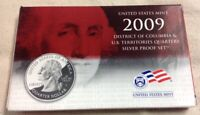 2009 US MINT SILVER QUARTER PROOF SET - Complete w/ Original Box and COA