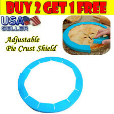 Adjustable Silicone Pie Crust Shield Bakeware Round Pie Baking Tool Fit 8-11.5in