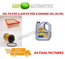 DIESEL OIL AIR FILTER KIT + LL 5W30 OIL FOR AUDI A4 2.0 136 BHP 2005-07