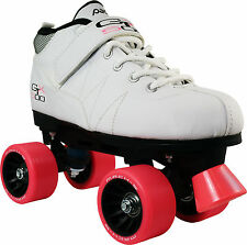 Pacer GTX 500 Mens Ladies Roller Derby Quad Speed Skates US Size 8 - White