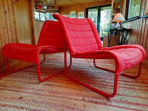 Armchair Club Chair Vintage 70s Steel Pipe Retro Easy Danish Modern 70er 1/2