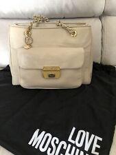 Borsa donna Love Moschino originale a tracolla colore crema Usata con sacca