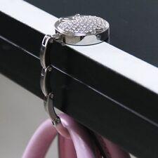 Foldable Portable Folding Crystal Alloy Purse Handbag Hook Hanger Bag Holder US