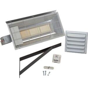 Radiant Natural Gas Heater - 25,000 BTU - 625 Sq Ft - Millivolt - Thermostat