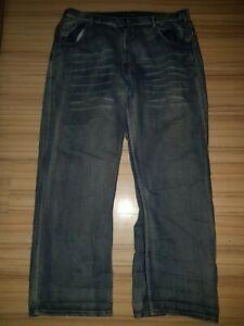 Dangerous DNGRS Männer Loose Fit Jeans Baggy Hip Hop Hose blau