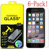 6x 9H Screen Protector Tempered Glass For Apple iPhone45678 Plus X XS Max XR