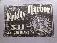 VINTAGE FRIDAY HARBOR SAN JUAN ISLAND T SHIRT MEDIUM