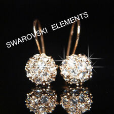 SALE Prom 8mm 18K Rose Gold Filled Crystal Earrings Valentine Birthday E408g