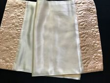 Vintage Light Honey Satin Runner for Breakfast-in-the-Bed Tray Quilted Edges
