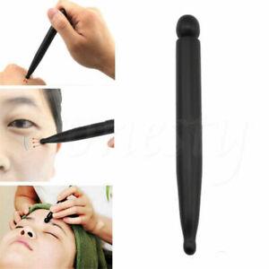Black Natural Bian Stone Needle Massage Stick Wand Gua Sha Acupoint Acupuncture