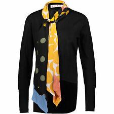 €1000 NWT Marni Womens Black 100% Cashmere Fixed Tie Crew Neck Top Jumper 38 S