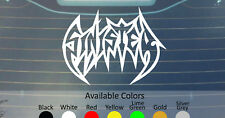 SINISTER VINYL DECAL STICKER CUSTOM SIZE/COLOR