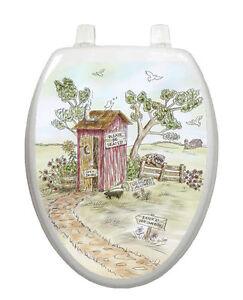 Toilet Tattoos Toilet Seat Lid Decor Lori's Outhouse Removable Reusable