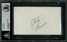 Lakers Chick Hearn Authentic Signed 3x5 Index Card Autographed BAS Slabbed
