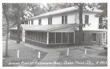 Cedar Falls IA Outside the Dining Room~Enclosed Porch~River View Park~RPPC c1960