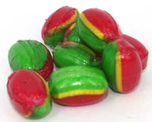 500g ROSEY APPLE ROCK CANDY HARD BOILED RED GREEN BULK LOLLIES WEDDING FAVOURS